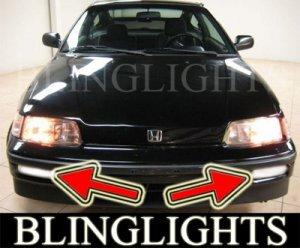 1988-1991 HONDA CIVIC DX LX FOG LIGHTS LAMPS DRIVING LIGHT LAMP KIT 1989 1990 HATCHBACK SEDAN