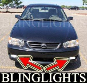 1998-2002 TOYOTA COROLLA FOG LIGHTS DRIVING LAMPS LIGHT LAMP KIT lamps ve ce le 1999 2000 2001
