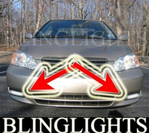 2003-2008 TOYOTA COROLLA FOG LIGHTS DRIVING LAMPS LIGHT LAMP KIT lamps ce le s 2004 2005 2006 2007