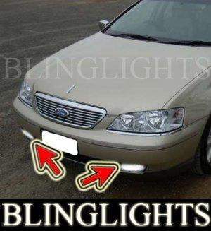 2005-2007 FORD FAIRLANE BF SERIES BUMPER FOG LIGHTS DRIVING LAMPS LIGHT LAMP KIT PAIR 2006