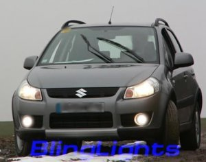 2007 2008 2009 SUZUKI SX4 CROSSOVER HATCHBACK XENON FOG LIGHTS DRIVING LAMPS LIGHT LAMP KIT 07 08 09