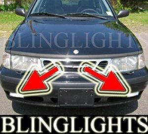1999-2002 SAAB 9-3 TURBO XENON FOG LIGHTS DRIVING LAMPS LIGHT LAMP KIT 2000 2001