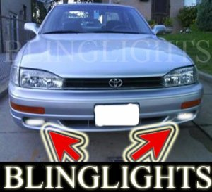 1994-1998 TOYOTA CAMRY XENON FOG LIGHTS DRIVING LAMPS LIGHT LAMP KIT 1995 1996 1997