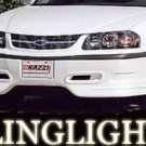 2000-2004 CHEVROLET IMPALA RAZZI BODY KIT FOG LIGHTS DRIVING LAMPS LIGHT LAMP KIT 2001 2002 2003