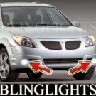 2005 2006 PONTIAC VIBE GT XENON FOG LIGHTS DRIVING LAMPS LIGHT LAMP KIT 05 06
