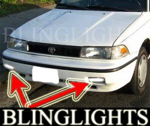 1988-1992 TOYOTA COROLLA FOG LIGHTS DRIVING LAMPS LIGHT LAMP KIT dx le sr5 gt-s 1989 1990 1991