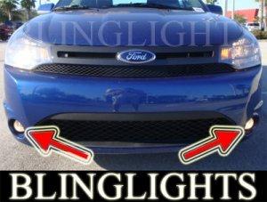 2009 2010 FORD FOCUS SES COUPE XENON LED FOG LIGHTS DRIVING LAMPS BUMPER LAMP LIGHT KIT 09 10
