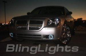 DODGE MAGNUM BUMPER ANGEL EYES FOG DRIVING LIGHTS LAMPS LIGHT LAMP KIT 2005 2006 2007 2008