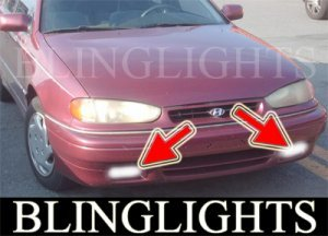 1991-1995 Hyundai Elantra Xenon Fog Lights Driving Lamps Kit 1992 1993 1994