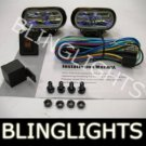 BLACK HELLA CLEAR LENS OVAL AUXILIARY DE FOG LIGHTING LIGHTS LAMPS LIGHT LAMP KIT