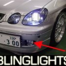 1998-2004 LEXUS GS300 ANGEL EYE HALO FOG BUMPER LIGHTS LAMPS LIGHT LAMP KIT 1999 2000 2001 2002 2003