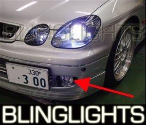 1998-2004 LEXUS GS300 ANGEL EYE HALO FOG BUMPER LIGHTS LAMPS LIGHT LAMP KIT 1999 2000 2001 2002 2003