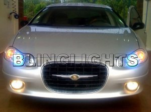 2002 2003 2004 CHRYSLER CONCORDE ANGEL EYES FOG LIGHTS HALOS DRIVING LAMPS HALO EYE LIGHT LAMP KIT