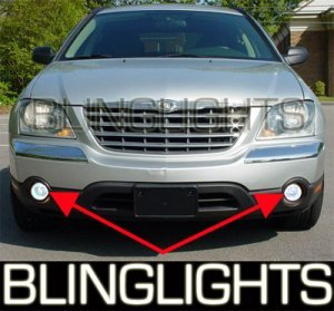 2003-2009 CHRYSLER PACIFICA HALO FOG LIGHTS PAIR lamps 2004 2005 2006 2007 2008