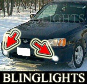 2000 2001 2002 Hyundai Accent Xenon Fog Lights Driving Lamps Kit