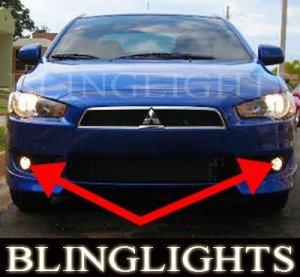 2008 2009 2010 MITSUBISHI LANCER XENON FOG LIGHTS DRIVING LAMPS LIGHT LAMP KIT de es se gts