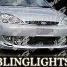 2000-2004 FORD FOCUS VIS RACING BODY KIT BUMPER FOG LIGHTS LAMPS LAMP 2001 2002 2003