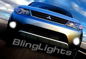 2008 2009 MITSUBISHI OUTLANDER XENON FOG LED DRIVING LIGHTS DAY TIME RUNNING LAMPS DRL