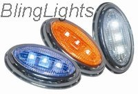 2005 2006 2007 Mercedes C55 AMG W203 LED Side Markers Turnsignals Turn Signals Lights Lamps C 55