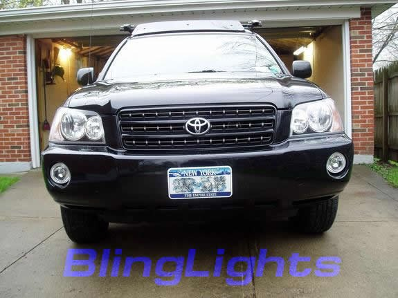 2001-2007 Toyota Highlander Halo Fog Lamps blue white