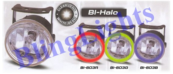 98-05 Honda Accord White Halo Fog Lamps lx dx lights 02