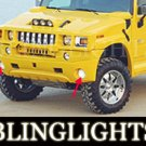 03-08 HUMMER H2 HALO BODY KIT FOG LIGHTS LAMPS 05 06 07