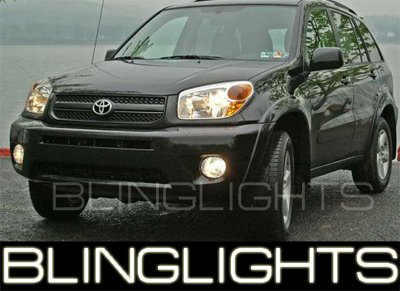 2004-2005 TOYOTA RAV4 WHITE HALO FOG LAMPS LIGHTS Rav 4