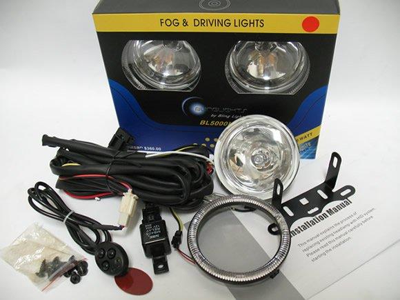2007-2009 Dodge Caliber Blue Halo Fog Lamps lights 08