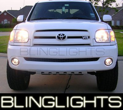 03-09 TOYOTA TUNDRA WHITE HALO FOG LIGHTS 06 07 lamps