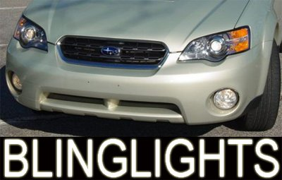 96-08 Subaru Outback White Halo Fog Lamps lights 06 07
