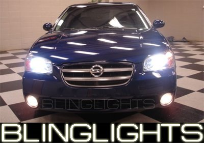 2000-2003 Nissan Maxima White Halo Fog Lamps 2001 2002