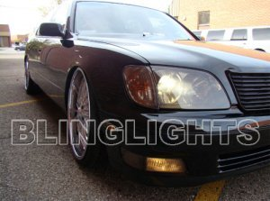 1998 1999 2000 Lexus LS400 Headlamps Tint Headlights Film Head Lamps Lights Smoked