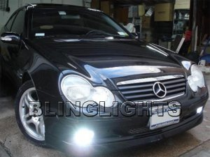 2002 Mercedes C230K Kompressor Sports Coupe Xenon Fog Lights Driving Lamps Kit C 230K C230 K W203