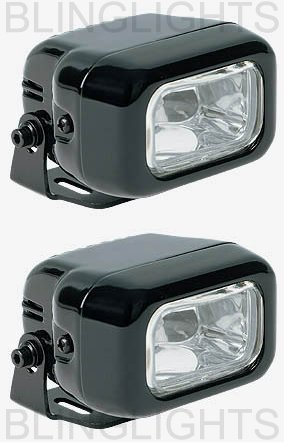 BLACK HELLA CLEAR LENS RECTANGULAR AUXILIARY DE DRIVING LIGHTING LIGHTS LAMPS LIGHT LAMP KIT