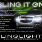 2010 2011 Chevy Equinox 4300K White LEDs DRLs for Headlamps Headlights Head Lamps Lights Chevrolet