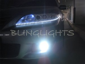 2003 2004 2005 2006 2007 2008 Mazda6 LED DRLs Strips for Head Lights Headlights Headlamps