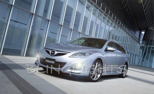 2011 2012 Mazda6 JDM Xenon Fog Lamps with LED Day Time Running Lights DRLs Lighting Mazda 6 Kit