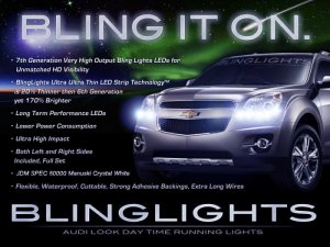 2010 2011 Chevy Equinox 6000K JDM LEDs DRLs for Headlamps Headlights Head Lamps Lights Chevrolet