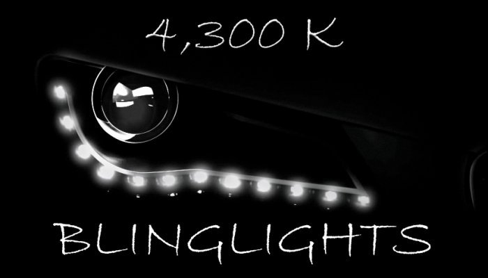 4300K White LED Audi R8 Day Time Running Lamps Headlamps Headlights Head Lights Strips DRLs Lighting