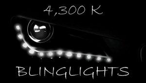 4300K White LED Audi R8 Day Time Running Lamps Headlamps Headlights Head Lights Strips DRLs Lighting