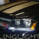 2008 2009 2010 Dodge Avenger LED DRLs Day Time Running Lights for Headlamps Headlights Head Lamps