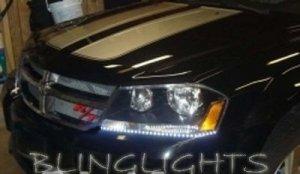 2008 2009 2010 Dodge Avenger LED DRLs Day Time Running Lights for Headlamps Headlights Head Lamps
