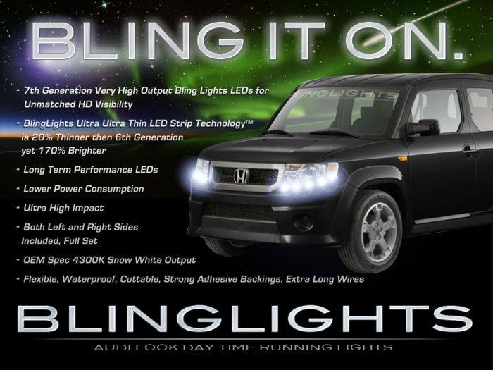 2009 2010 2011 Honda Element LED DRLs for Headlamps Headlights Day Time Running Lamps Head Lights