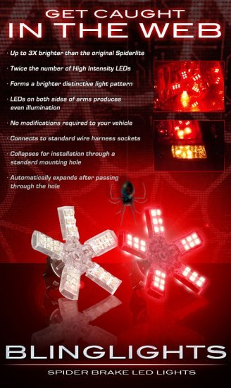 1997-2004 Chevrolet Corvette White LED Spider Brake Lights Bulbs Stop Lamps Brakelights Brakelamps