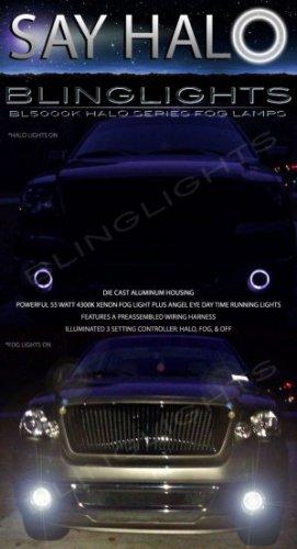 2004-2008 Ford F-150 F150 Halo Angel Eye Foglamps Foglights Driving Fog Lamps Lights