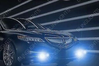 White LED Halo Fog Lamps Halo Driving Lights Kit for 2015 2016 2017 Acura TLX