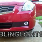 White LED Angel Eye Fog Lamps Driving Lights for 2007-2012 Nissan Altima