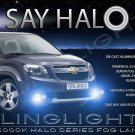 Blue Halo Fog Lamps Driving Lights For 2010-2014 Chevrolet Chevy Orlando