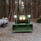 LED Flood Pattern Auxiliary Lights Kit for John Deere Tractor Mower Etc.