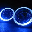Blue Halo Fog lamps Angel Eye Driving Light + Harness for 2007-2009 Acura RDX